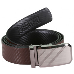 Classy Designer Brown Belt With Auto Lock Buckle